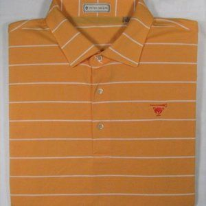 PETER MILLAR ~ 100% Polyester Polo Golf Shirt ~
